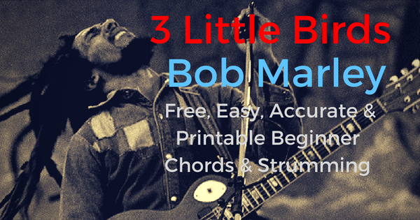 Three Little Birds Chords Bob Marley For Beginner Guitar | The IOM ...