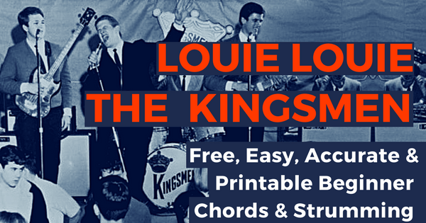 Louie Louie Chords The Kingsmen For Beginner Guitar | The IOM Process |