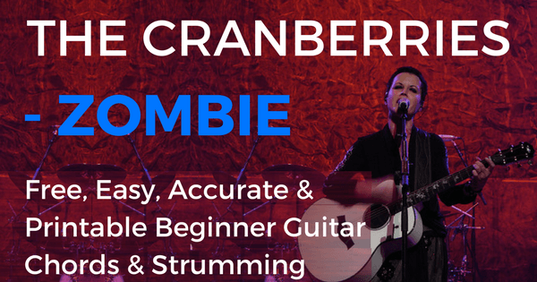 Zombie Chords by The Cranberries for Beginner Guitar | The IOM Process |