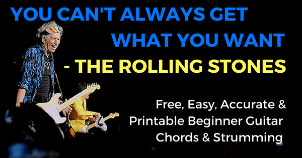 You Can\'t Always Get What You Want Chords by The Rolling Stones for ...