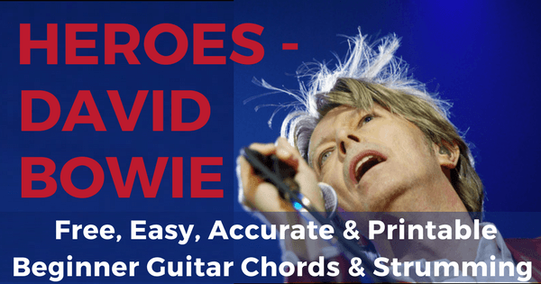 David Bowie, Heroes Chords for Beginner Guitar | The IOM Process |
