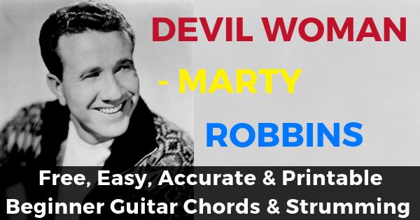 Marty Robbins, Devil Woman Chords
