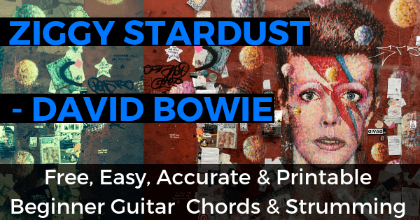 Ziggy Stardust Chords And Strumming, David Bowie