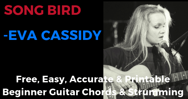 Songbird - Eva Cassidy free, easy, accurate and printable beginner guitar chords and strumming